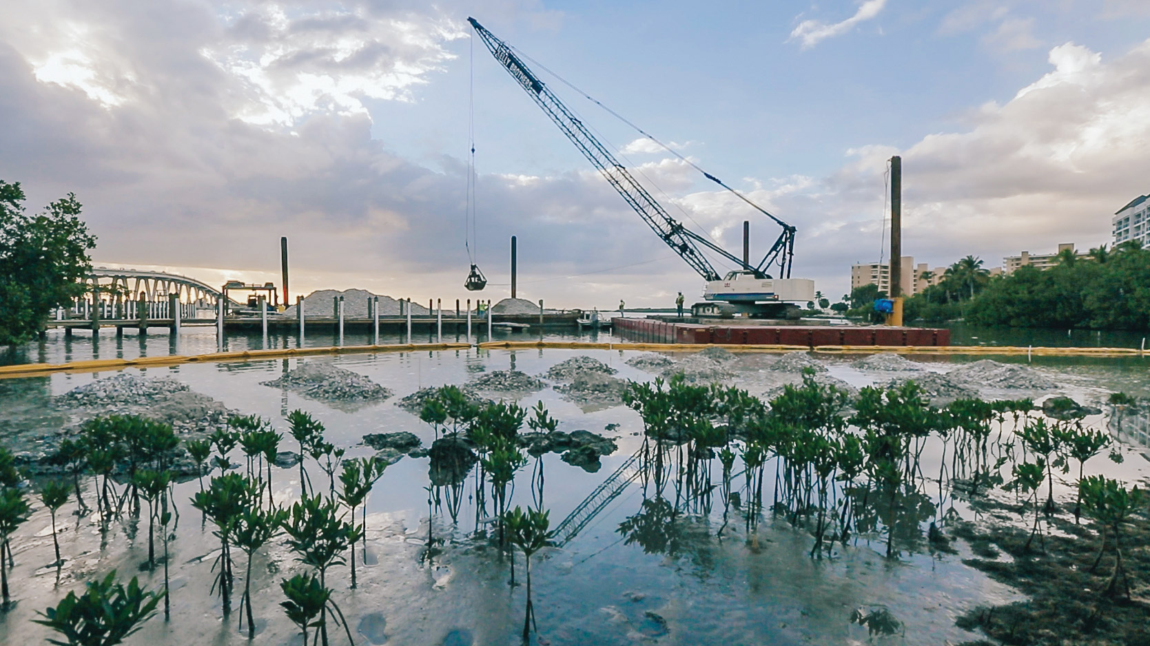Punta Rassa Crane Apron Barges